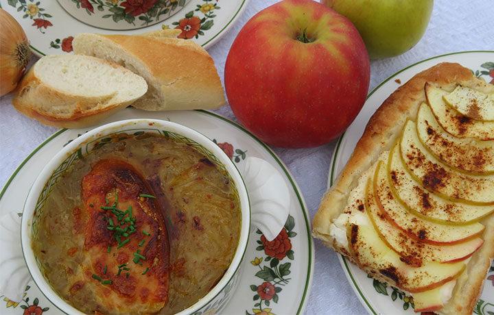 Kochvideo – Zwiebelsüppchen mit Apfelfladen